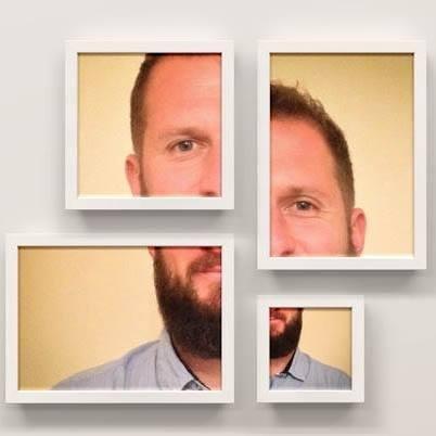 Portrait de Martin Leclercq en mosaïque