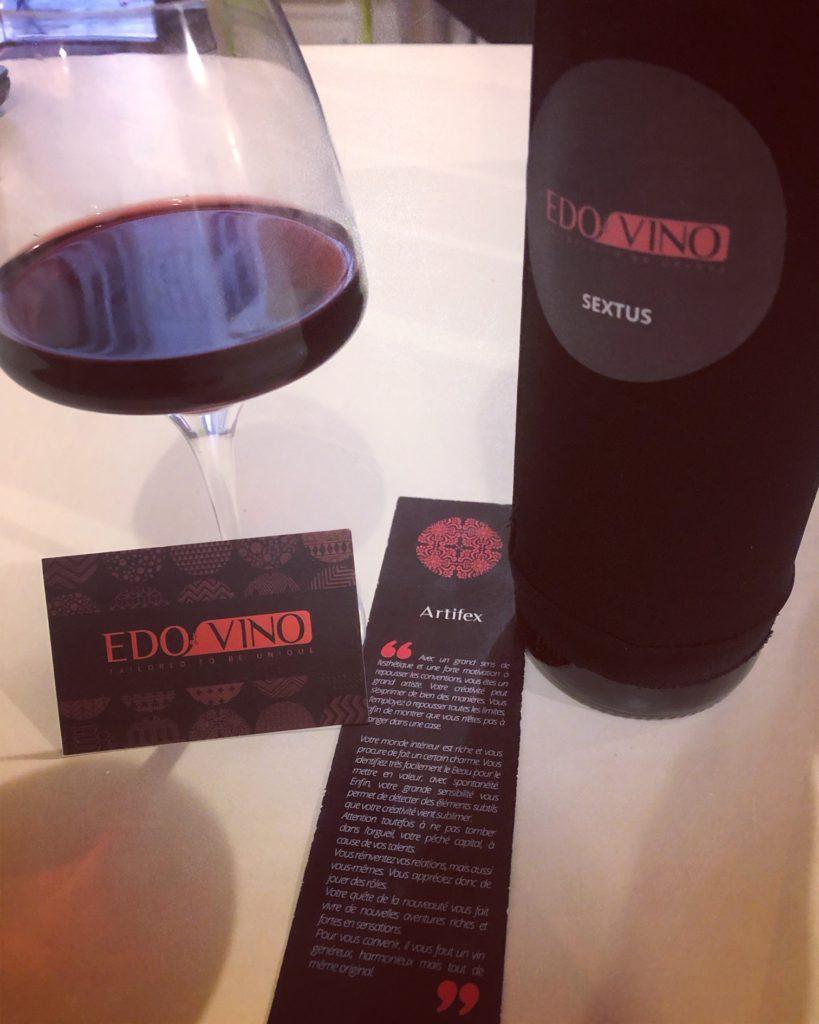 Photo du profil sensoriel et du vin sur mesure d'Edovino