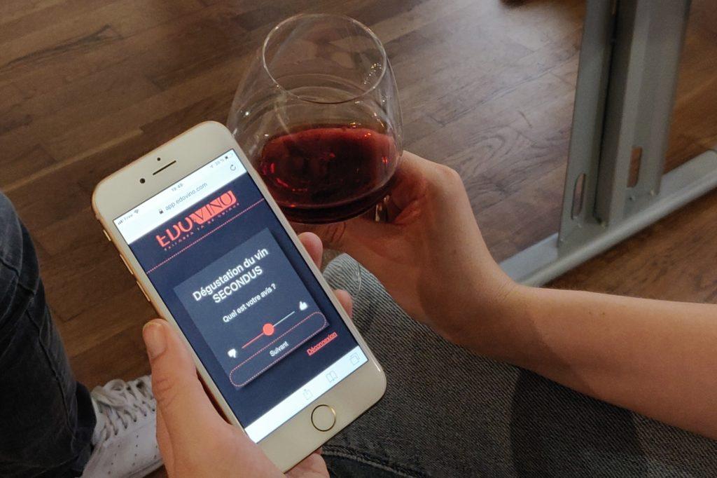 Dégustation et WebApp pour découvrir le vin sur mesure avec Edovino