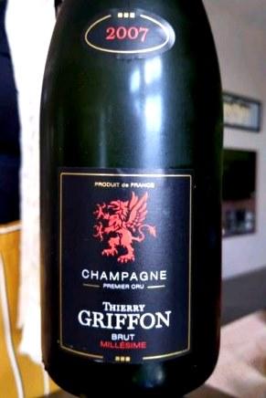 Bouteille de champagne de Thierry Griffon