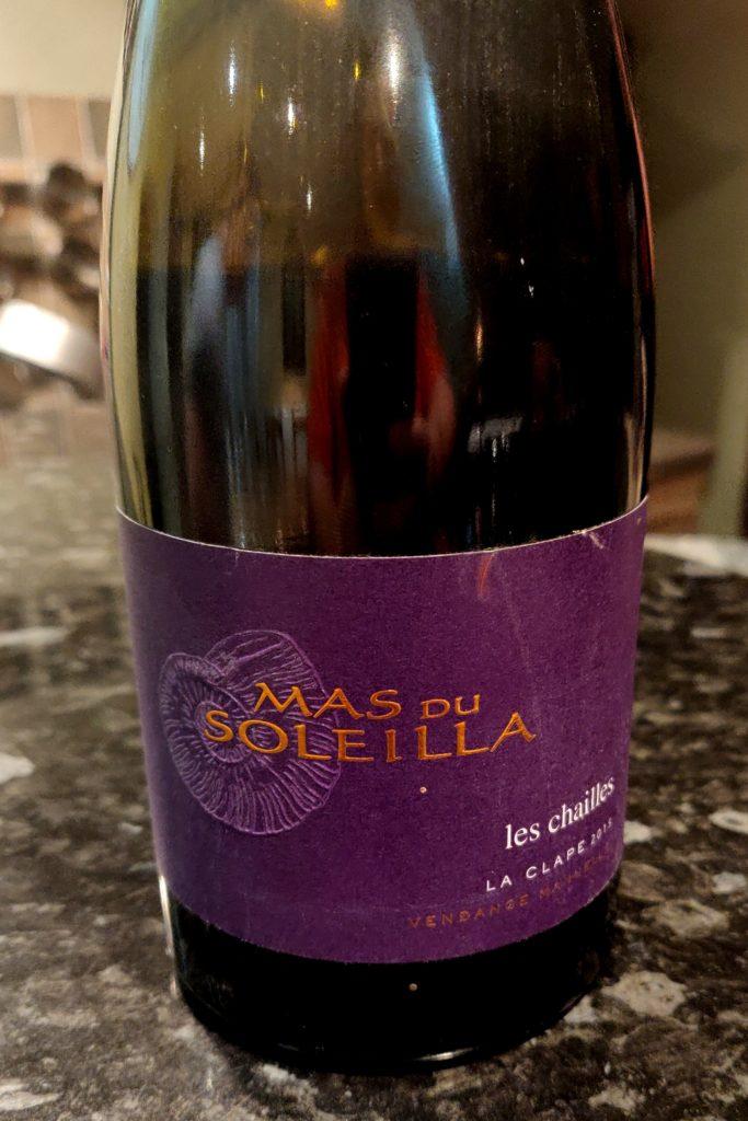 Bouteille de vin rouge Languedoc la Clape