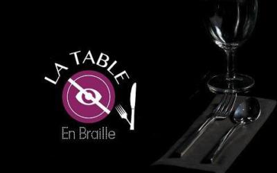 La table en braille, osez diner dans le noir