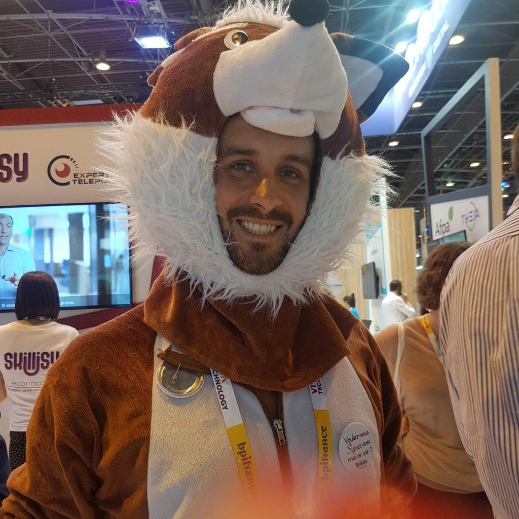 Sylvain Tillon déguisé en renard pour VivaTech